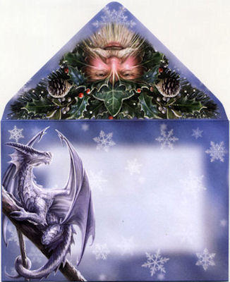 Anne Stokes Winter Guardians Yuletide Greetings Card